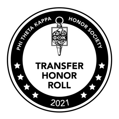 Phi Theta Kappa Honor Society Transfer Honor Roll 2020 Logo