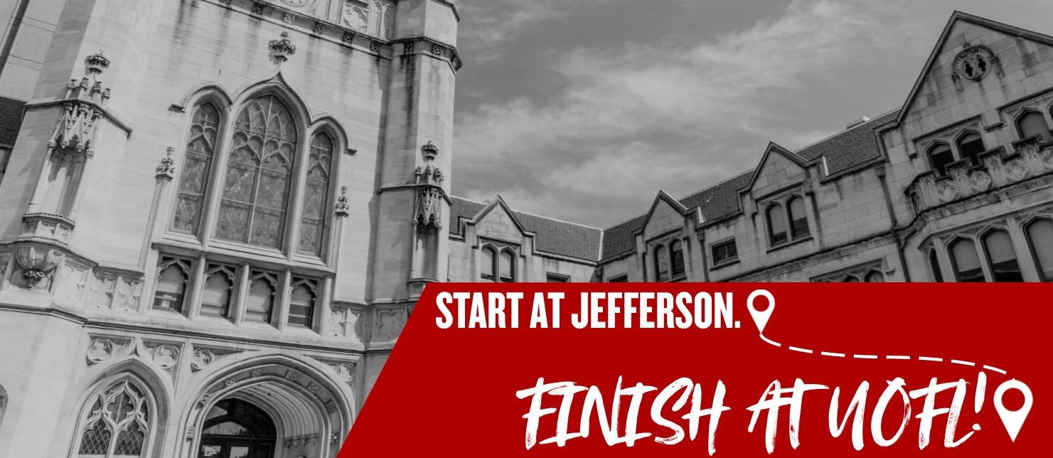Start at Jefferson. Finish at Uofl