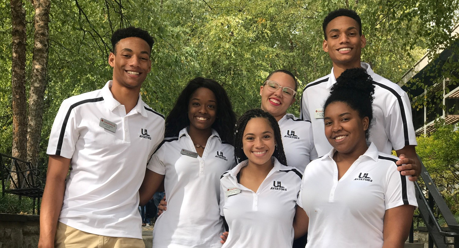 Group of Students at UofL - Diversity Student Ambassadors for Admissions