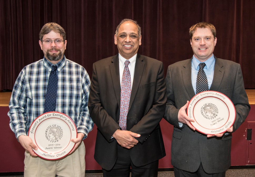 Winners of the Provost's Awards for Exemplary Advising