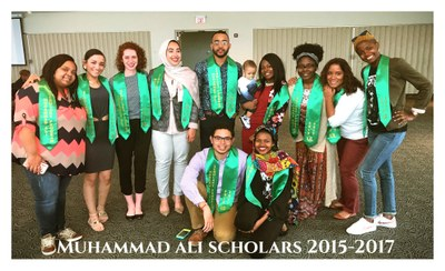 The outgoing Scholars pose for picture after Farewell/Induction Ceremony