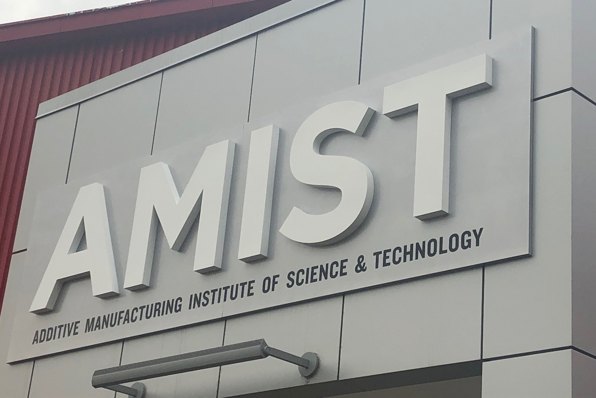 Photo of AMIST signage at training facility