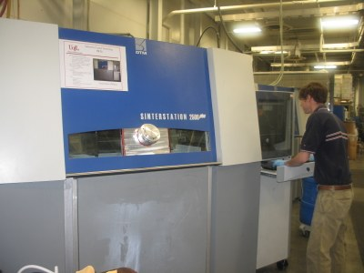 Sinterstation 2500 Plus (upgraded) - selective laser sintering equipment for polymers housed in the Vogt Additive Manufacturing Lab at J B Speed School of Engineering.