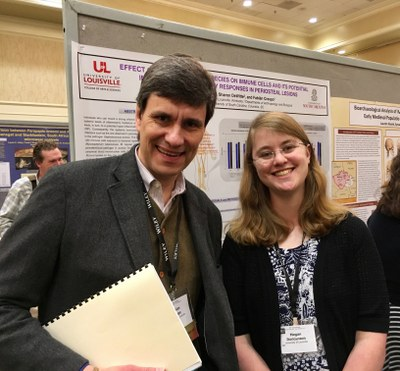 Photo of MA student Megan Duncanson with Dr. Crespo