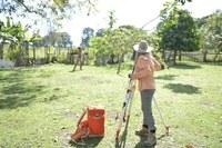 Photo of Grace Ellis working in the field