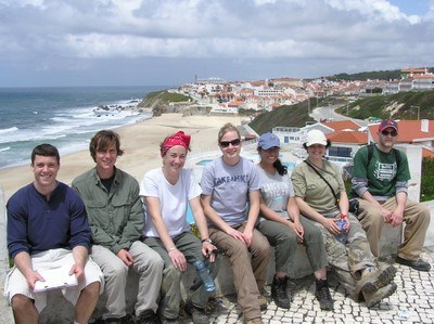 Dr. Haws and students in Portugal