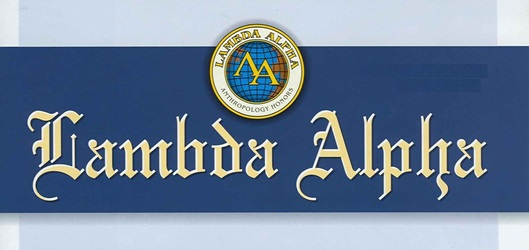 Lambda Alpha Honors Society logo