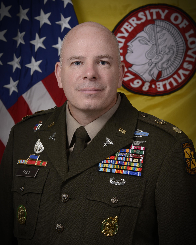 "Professor of Military Science — Army ROTC ""Cardinal Battalion"""