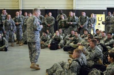 LTC Deon Briefing cadets