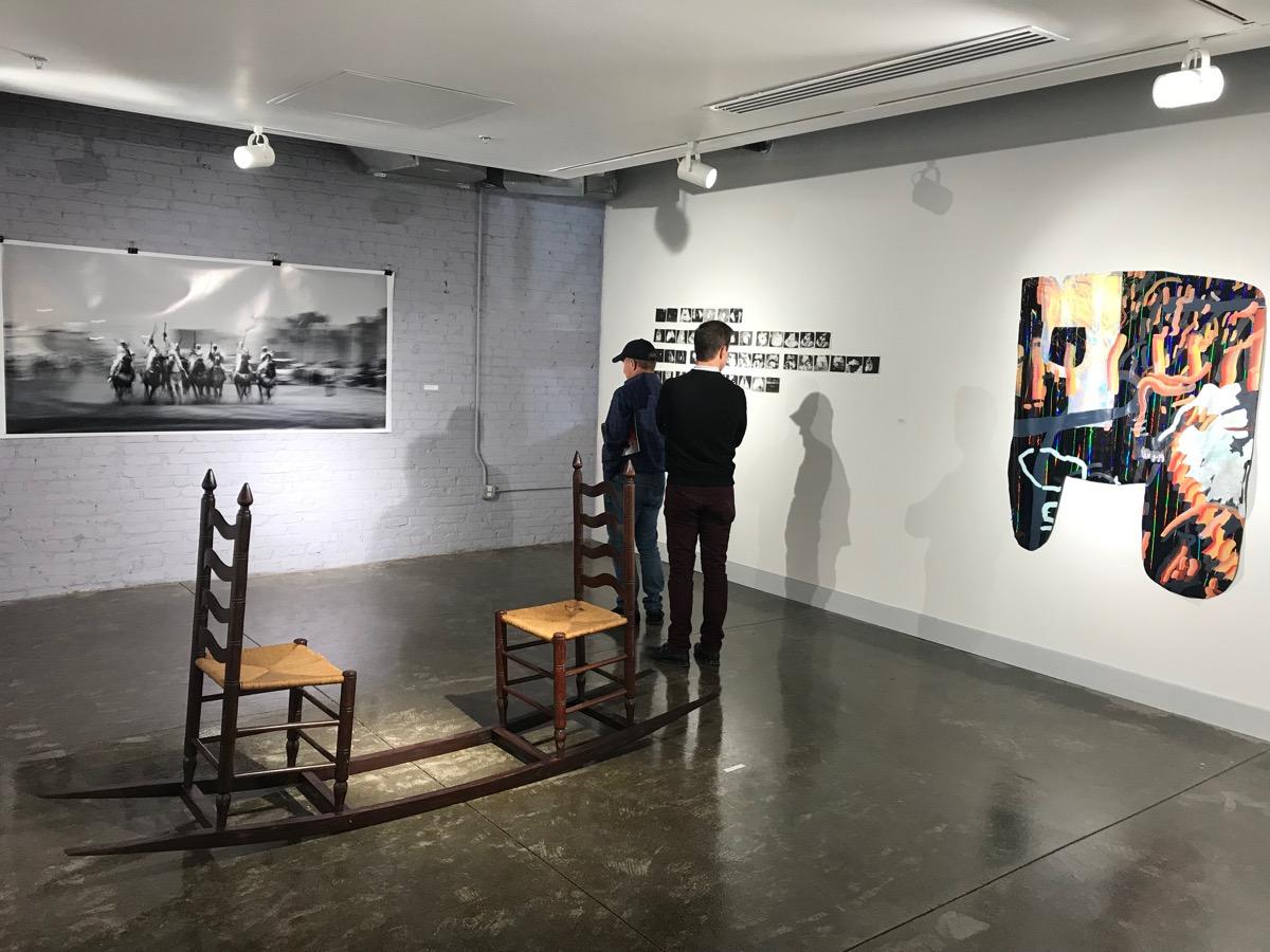 MFA Studio room and artworks