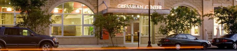 The Cressman Center Gallery Entrance