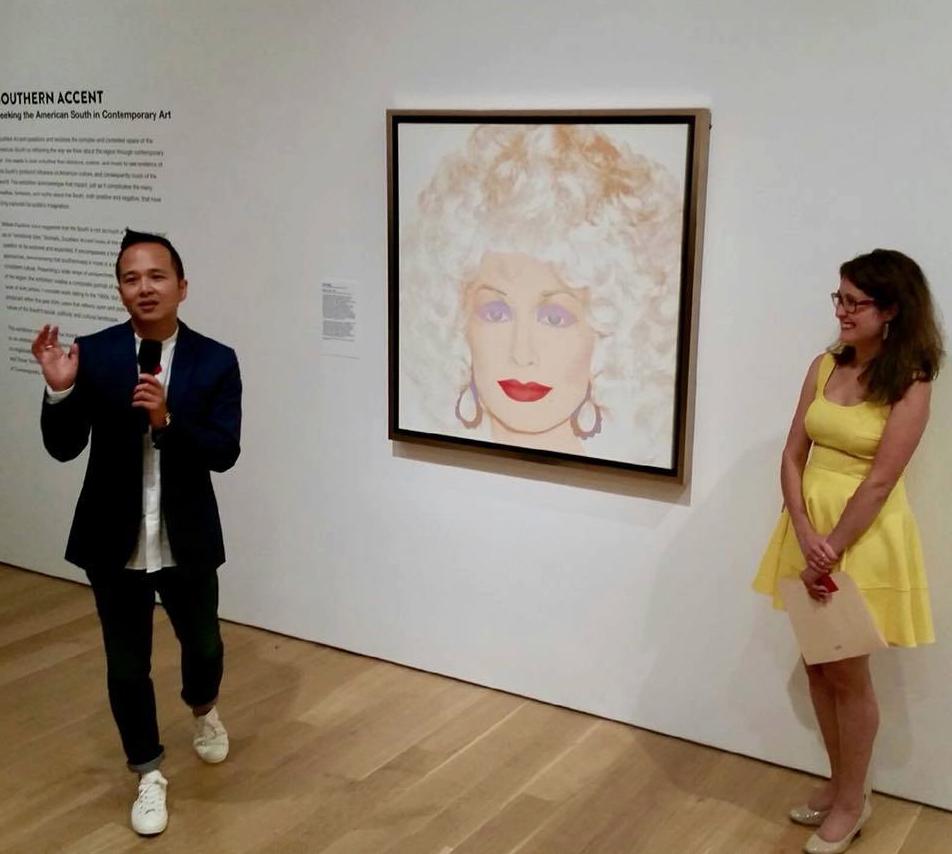 Dr. Jongwoo Kim and Miranda Lash at Speed Art Museum.