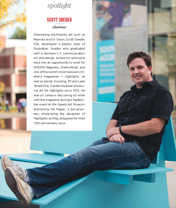 Scott Soeder featured in UofL Magazine