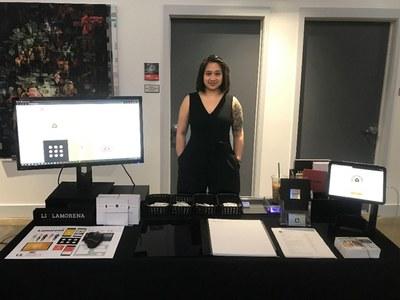 Lianna Lamorena at portfolio day