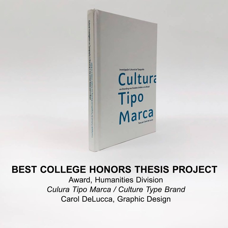 Image of Carol DeLucca's honor thesis project book.