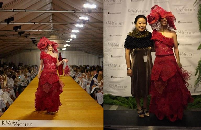 KMAC Couture Model wearing Moon-he Baik's design