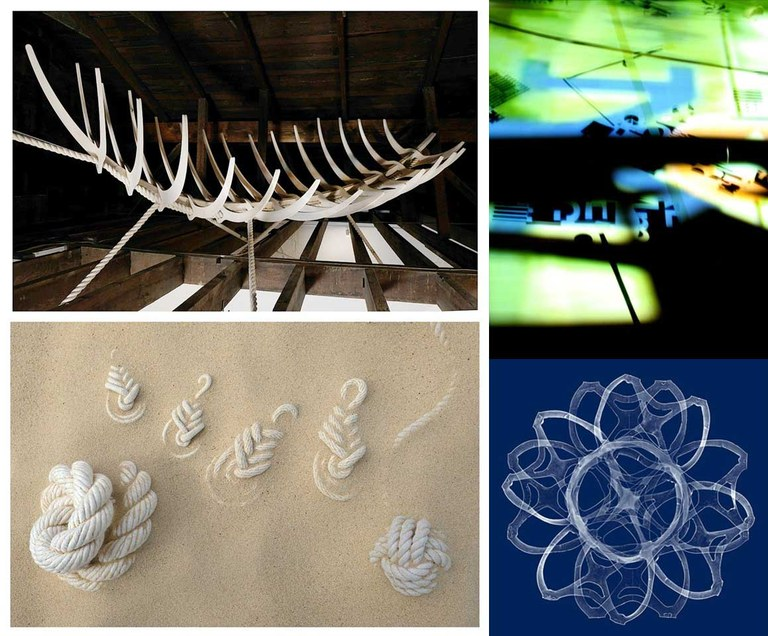 Works by Mary Carothers, Meena Khalili, and Mitch EckertLeft Side: Mary C.Top Right: Meena K.Bottom Right: Mitch E.