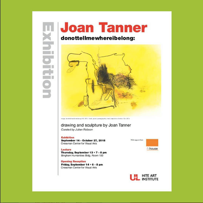 U of L artist flier for Joan Tanner