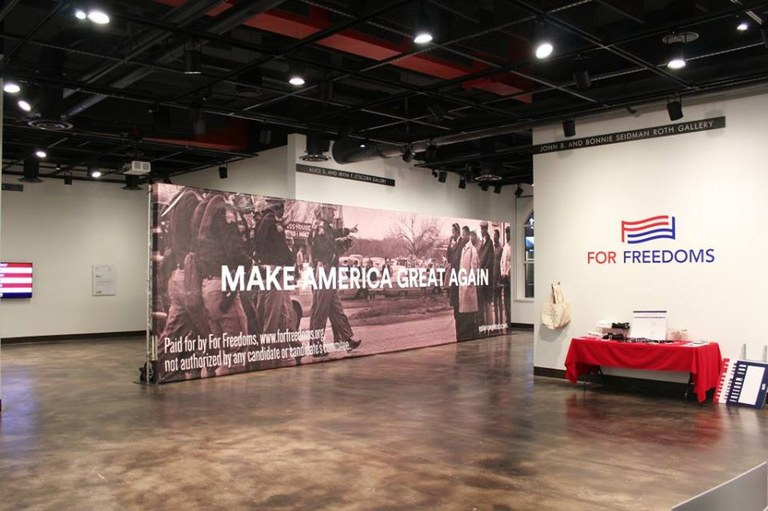 Image of the gallery exhibiting the New Monuments For Freedoms: Make America Great Again