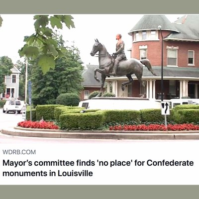 Confederate Monument at round-about