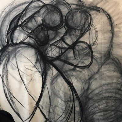 Robyn Gibson's charcoal drawing