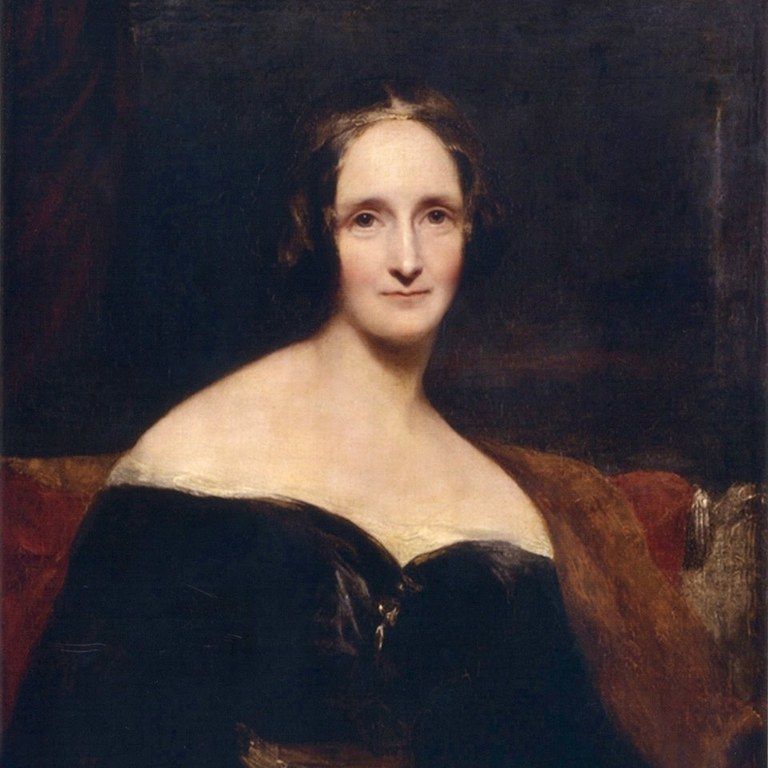 Image: Portrait of Mary Wollstonecraft Shelley by Richard Rothwell, oil on canvas, exhibited 1840.