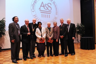 photo of group 2012 Inductees to the A&S Hall of Honor