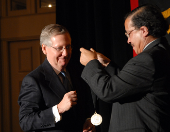 hall of honor medallion presentation to mcconnell