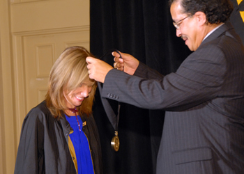hall of honor medallion presentation to Marsha Norman
