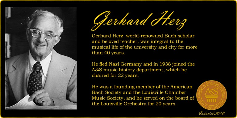 Gerhard Herz Hall of Honor banner