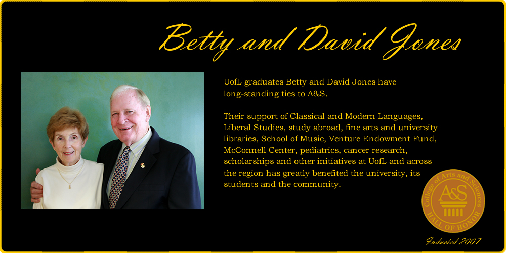 Betty and David Jones Hall of Honor banner