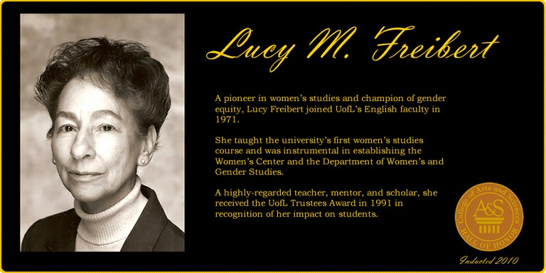 Lucy Freibert Hall of Honor Web Banner