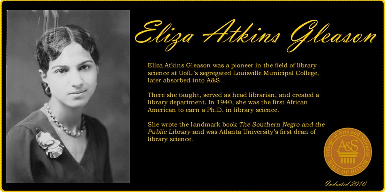 Eliza Atkins Gleason Hall of Honor Banner