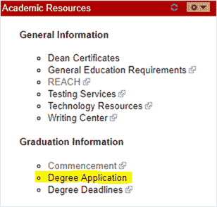 Academic resources screenshot