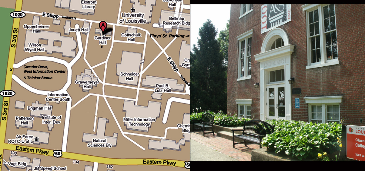 Map and Picture of Gardiner Hall horizontal