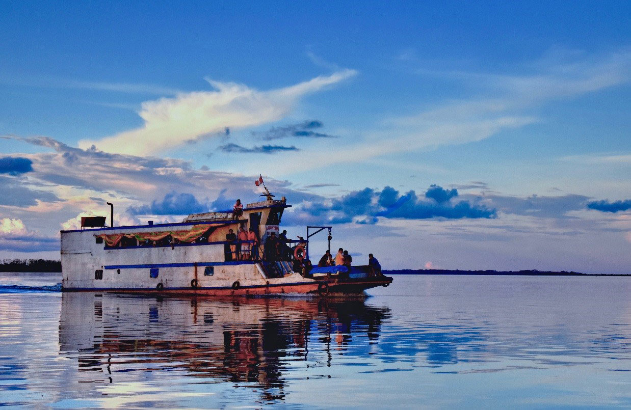 Watery Commute - taken in the Peruvian Amazon by William Poole
