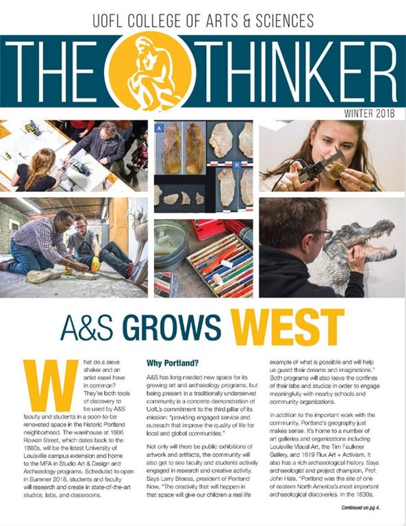 Winter 2018 Thinker Newsletter cover