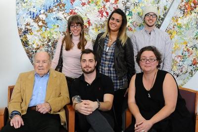 Art students with Bill Fischer