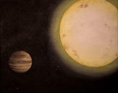 Artist's rendering of exoplanet KELT-6b by Lexington, Ky.-based artist Erin Plew of Queen of Arts LLC, courtesy of Vanderbilt University.