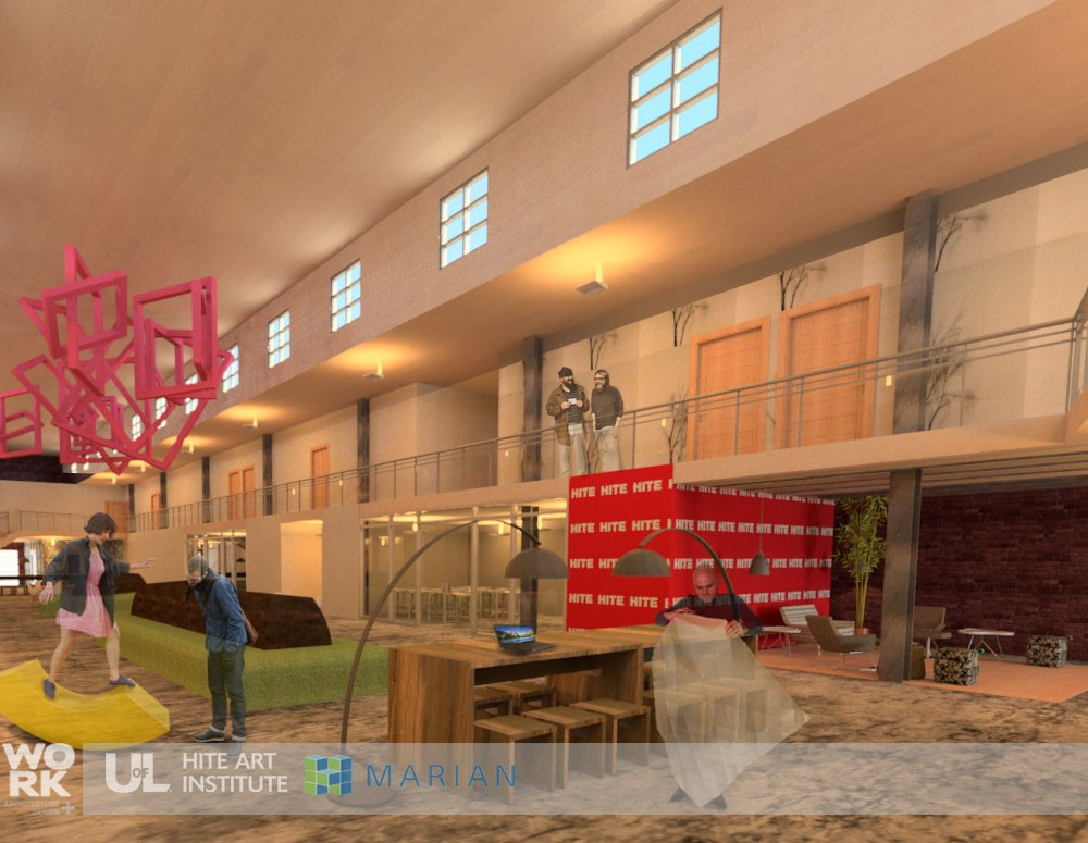 architectural rendering of the new studio