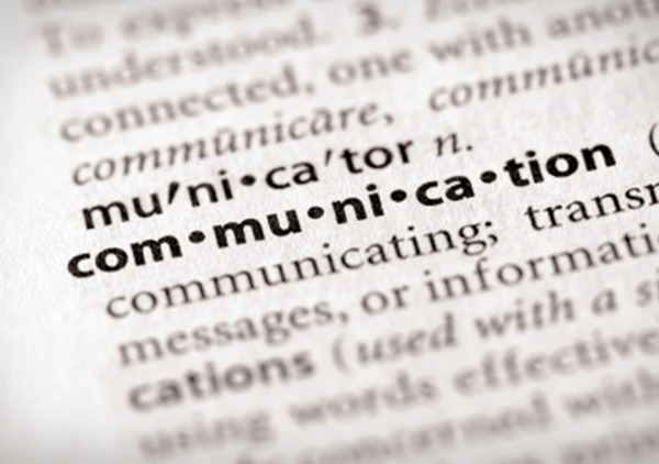 Communication word in dictionary