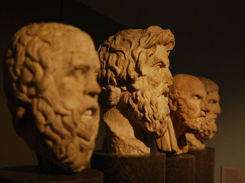 Bust statues of Bustos Filsofia Aristotle Philosophers