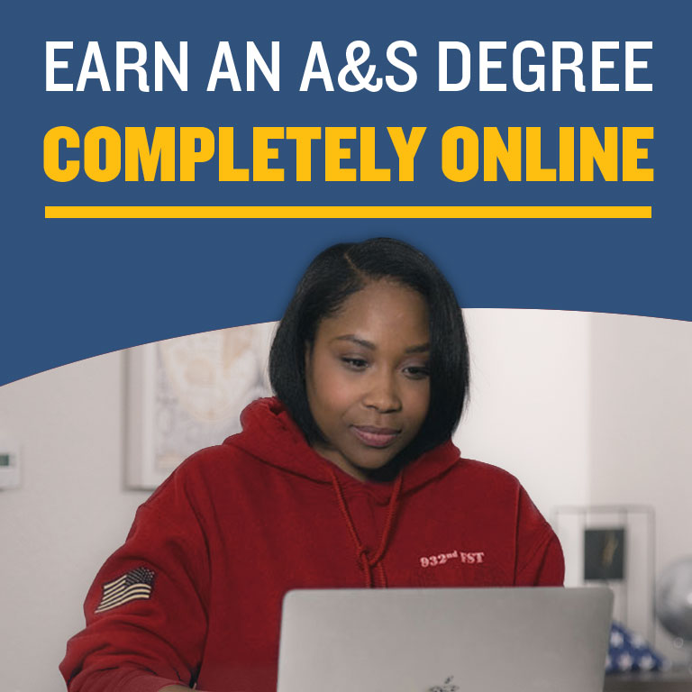Earn a degree completely online. Click the banner for more