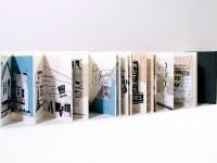 Khalili's artwork folded drawings of Louisville area buildings