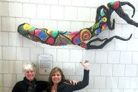 """Transplanted Roots"" - MFA and LALS alumna's sculpture featured in Stevenson Hall"