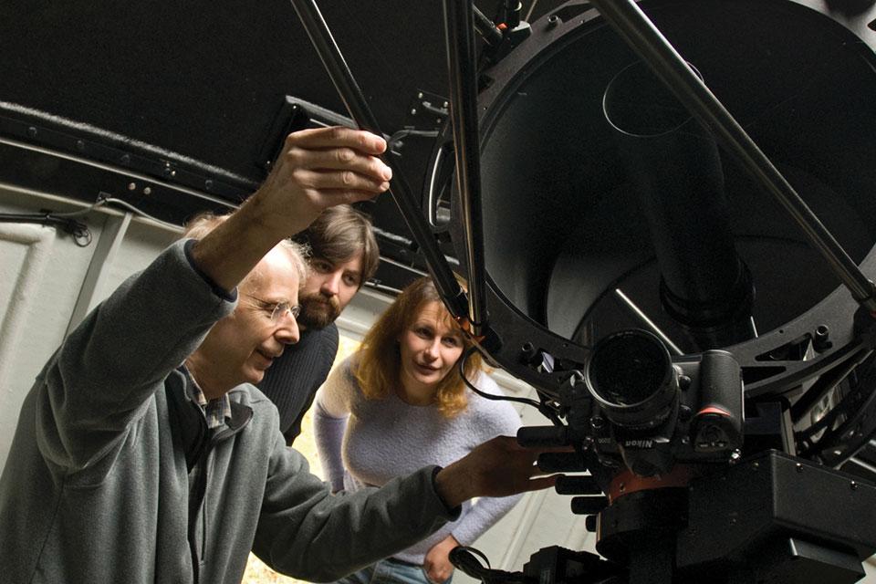 Listen to Astronomy Prof. John Kielkopf talk about his work with NASA's TESS exploration team