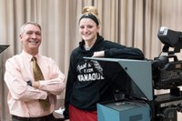 Women's Basketball junior forward Sam Fuehring (Communication) on her favorite faculty member Ralph Merkel