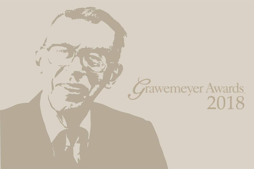 2018 Grawemeyer Award presentations include religion, world order, and psychology