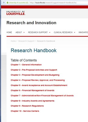 Research and innovation research handbook table of contents