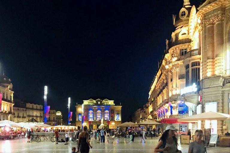 Montpellier, France city scene